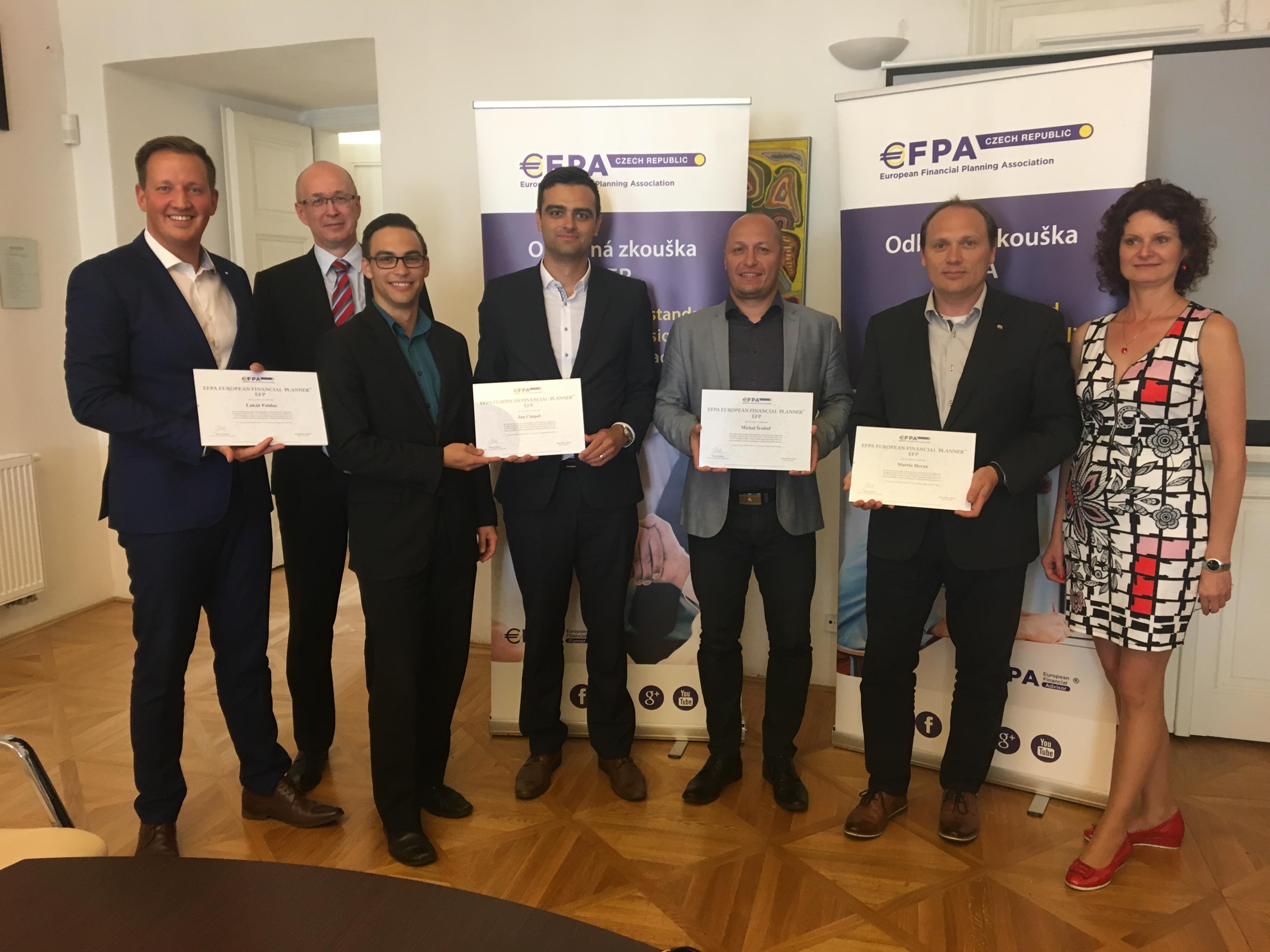 Získali jsme nejvyšší stupeň evropské cerifikace EFP – European Financial Planner